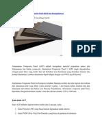 Pengenalan Alluminium Composite Panel