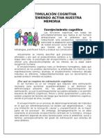 LA ESTIMULACI+ôN COGNITIVA Y LA IMPORTANCIA adultos mayores