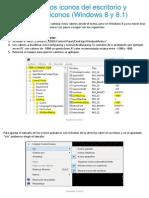 Espacio Entre Los Iconos Del Escritorio y Tamaño de Los Iconos en Windows 8 y 8.1