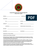 Cooperation Jackson Membership Application