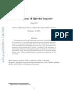 Mechanism of Gravity Impulse