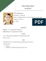 Patient Statistics Report