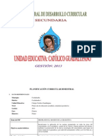 Plan Bimestral Secundaria