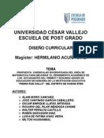 Propuesta Curricular Diversificada Area Matematica Ultimo