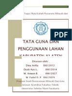 Tata Guna Lahan Kabupaten Klaten