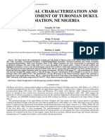 Geochemical Characterization and Paleoenviroment of Turonian Dukul Formation, Ne Nigeria