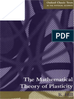 the Mathematical Theory of Plasticity