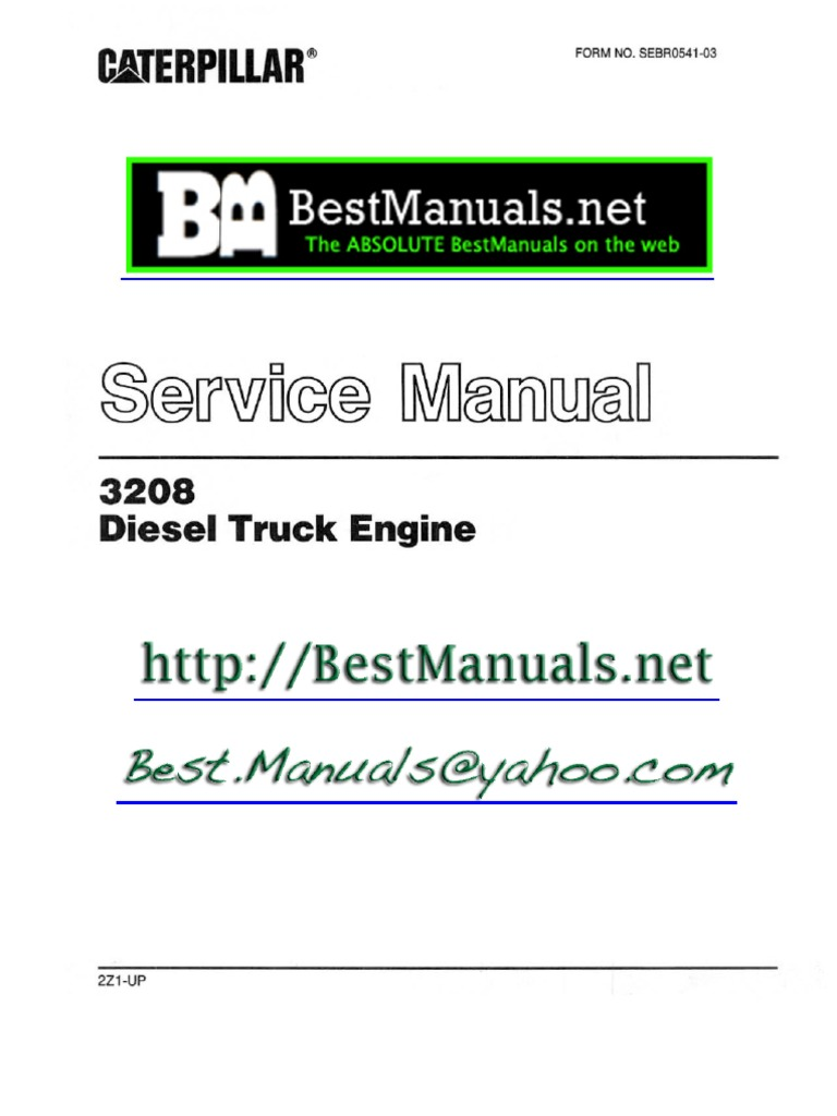 caterpillar 3208 diesel engine sm manual copy one | vehicle technology |  manufactured goods