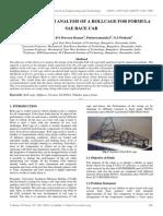 Design and Crash Analysis of a Rollcage for Formula Sae Race Car