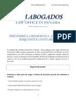Prendere La Residenza a Panama - Trattato di Amicizia tra Panama ed Italia