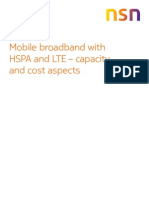 Mobile Broadband With Hspa and Lte-capacity and Cost Aspects White Paper