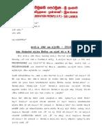 JVP Writes Election Commissioner