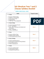 IBDP Literature Online Classes Syllabus Booklet