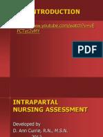 Intrapartal Assessment 2012