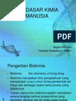Biokimia Dan Dasar Penyusun Tubuh Manusia
