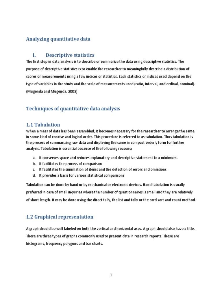 Quantitative Data Analysis Assignment (Recovered)   Analysis Of