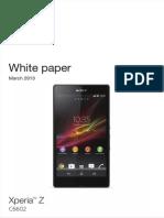 Whitepaper en c6602 Xperia z- data