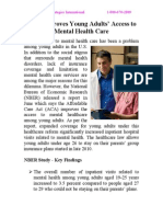 ACA Improves Young Adults' Access to Mental Health Care