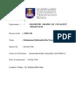 Lab Report Chemist Chapter 7