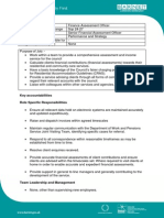 Finance Assessment Officer - Role Profile - 100739