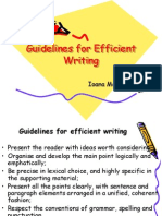 Guidelines for Efficient Writing
