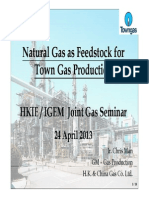 Natural Gas as Feedstock in Towngas Production