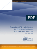 Top 10 Considerations for Selecting Help Desk Software