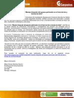 """Boletín de Prensa 4 de Agosto 2014 Corpoica Presenta El Libro """"Manejo Integrado Del Gusano Perforador en El Fruto de Lulo y Tomate de Árbol"""""""