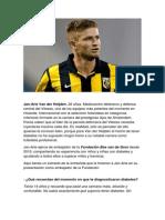 Jan-Arie Van Der Heijden, futbolista de éxito con diabetes