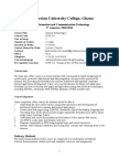 Internet Technology Course Outline