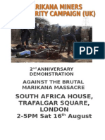 2nd Anniversary of Marikana Massacre