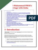Prophet Muhammad's marriage with Aisha  (Aysha)