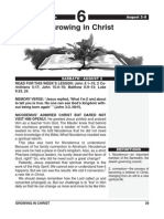 3rd Quarter 2014 Lesson 6 Growing in Christ Easy Reading Edition