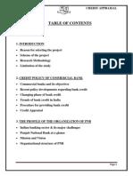 Blackbook Project on Credit Appraisal