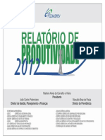 Relatório de Produtividade do Governo de Goiás