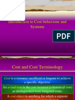 Introduction to Cost Systems and Behavious