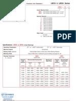 Lintech Round Rail Bearings Specsheet