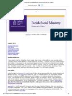 August 2014 Parish Social Ministry Newsletter