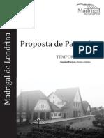 Proposta de Patrocínio Madrigal - 2012