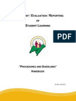 assessment-evaluation-reporting of student learning pg handbook