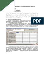 ConcarCB_CTPRES30 - Mantenimiento de Presupuesto