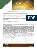 Discurso Apertura La Mision Aapresid 2014