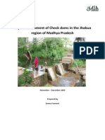 Impact Assessment of Check Dams in the Jhabua Region of Madhya Pradesh