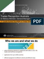 Trades Recognition Australia