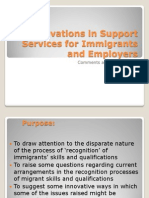 Innovations in Support Services for Immigrants and Employers