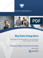 Ventana Research Benchmark Research Big Data Integration Executive Summary 2014 Pentaho