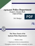 SPD Budget Presentation - 2015