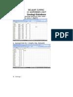 Belajar Surpac Geologi Database