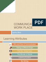 Communication @ Work Place