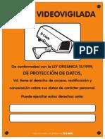 D Link Cartel Zona Videovigilada A4